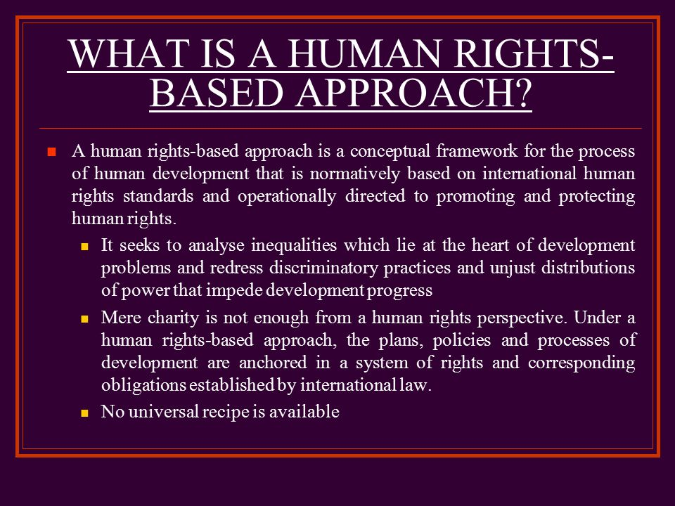 Rights-based approach to development