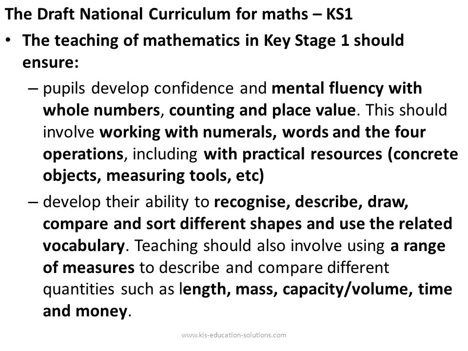 The new KS3 curriculum