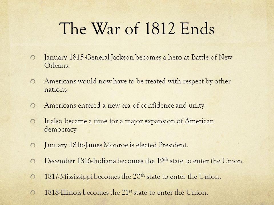 War of 1812 end date in Australia