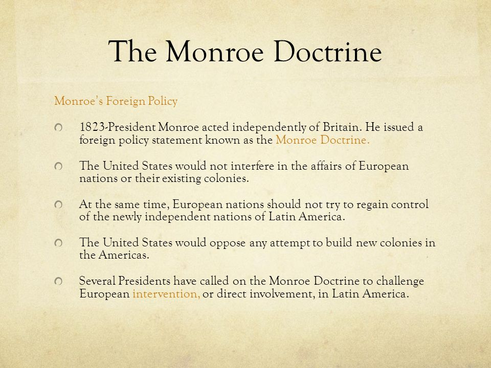 an analysis of the topic of the monroe doctrine Free monroe doctrine will discuss and analyze aristotle's doctrine of the mean this topic area can be analysis of marilyn monroe by using.