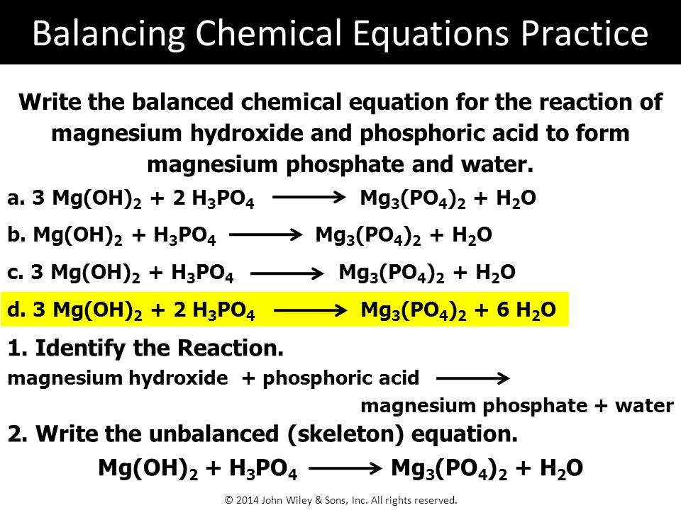 writing chemical equations calculator The chemical formula calculator - find the formula for ionic compounds with the net ionic equations common acids and the symbols of the elements of the periodic table.