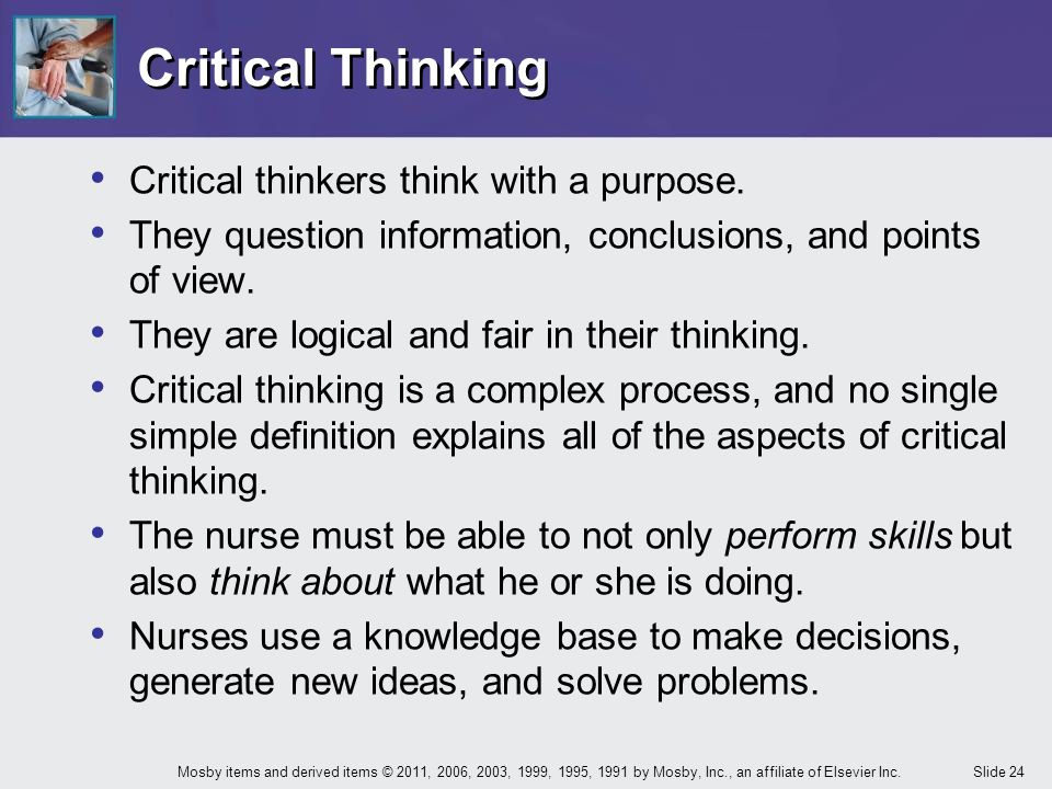 purpose of teaching critical thinking Overview: critical thinking is a higher-order thinking skill  in teaching, paul and  elder (2007) give at least two fundamental purposes to socratic questioning.