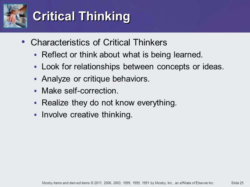 Characteristics of critical thinking skills