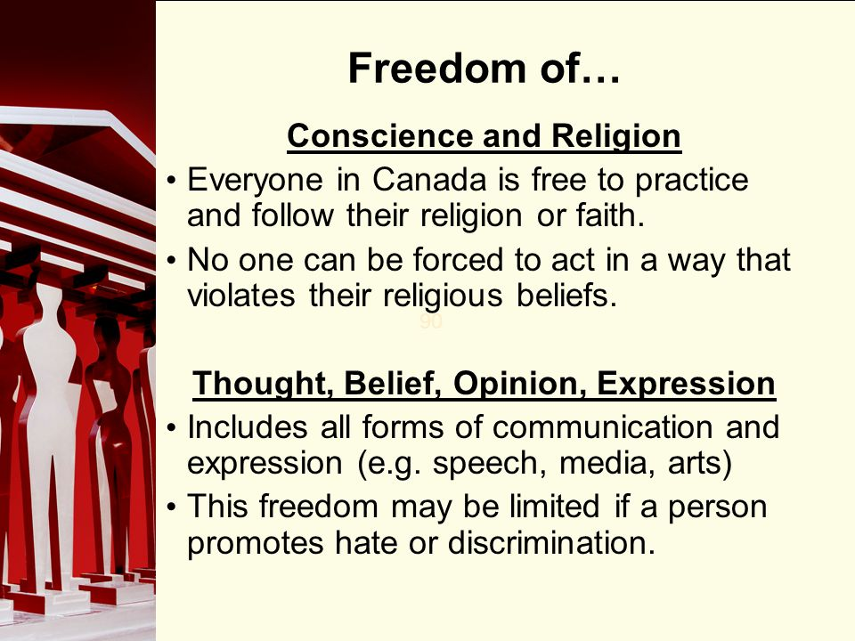 The Right to Freedom of Expression and Religion