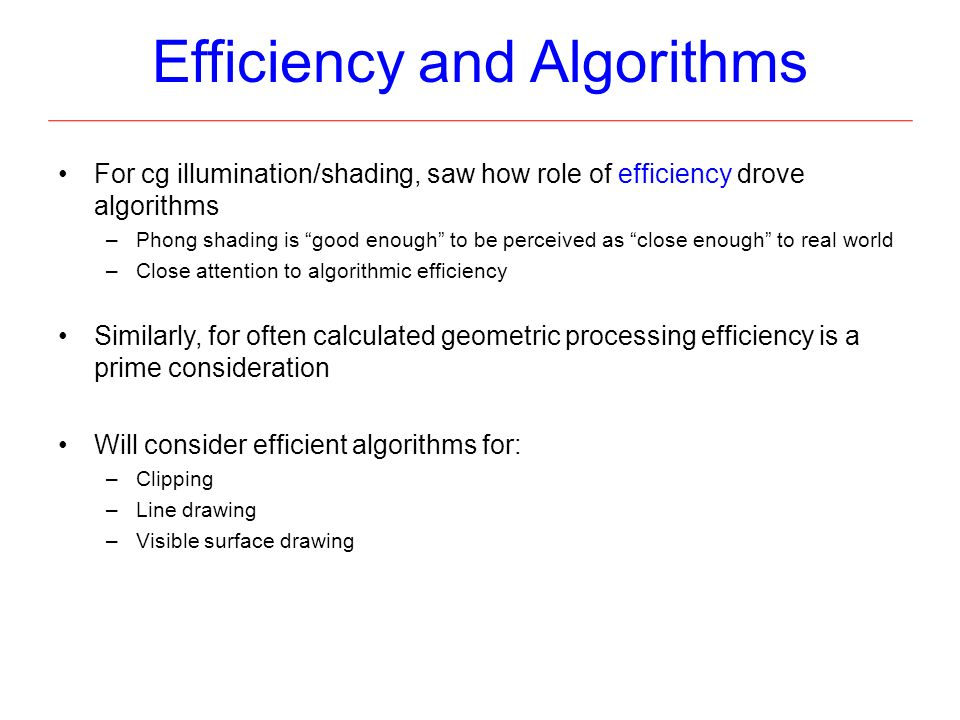 """Qualities Of Good Line Drawing Algorithm : Cg algorithms and implementation """"from vertices to"""