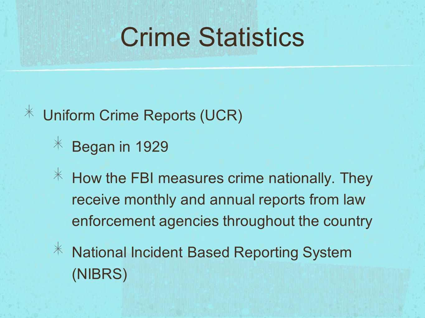 an analysis of the uniform crime reports an annual fbi publication This is the first law enforcement officers killed and assaulted as part of florida's enhanced uniform crime reports (fbi for inclusion in their annual.