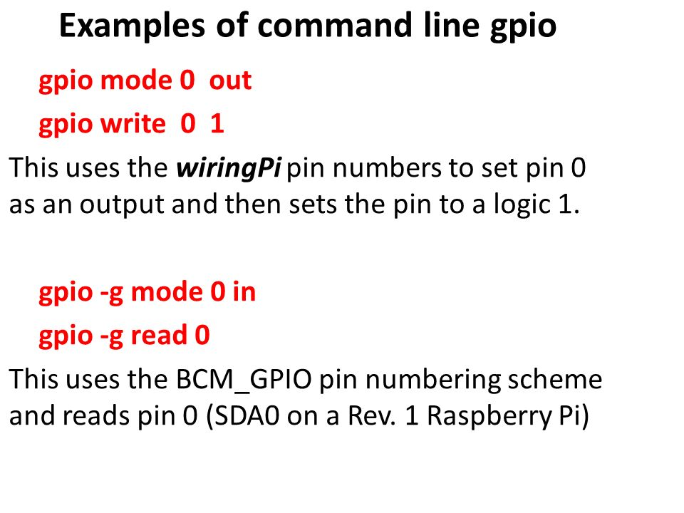 Eee305 microcontroller systems ppt video online download examples of command line gpio greentooth Image collections