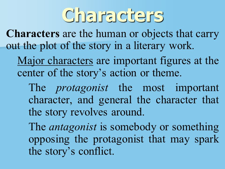 characterization as the important element of story The basic elements of a story or novel are: the first important element of a short story is the character: the character element is the person or people in.