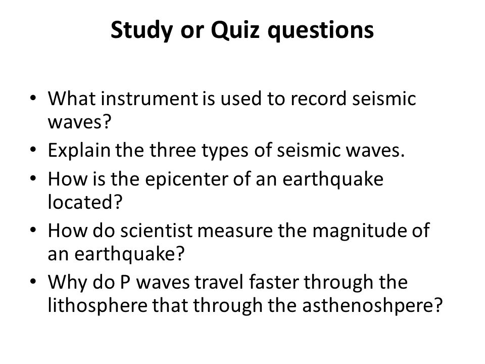 14 Study or Quiz questions