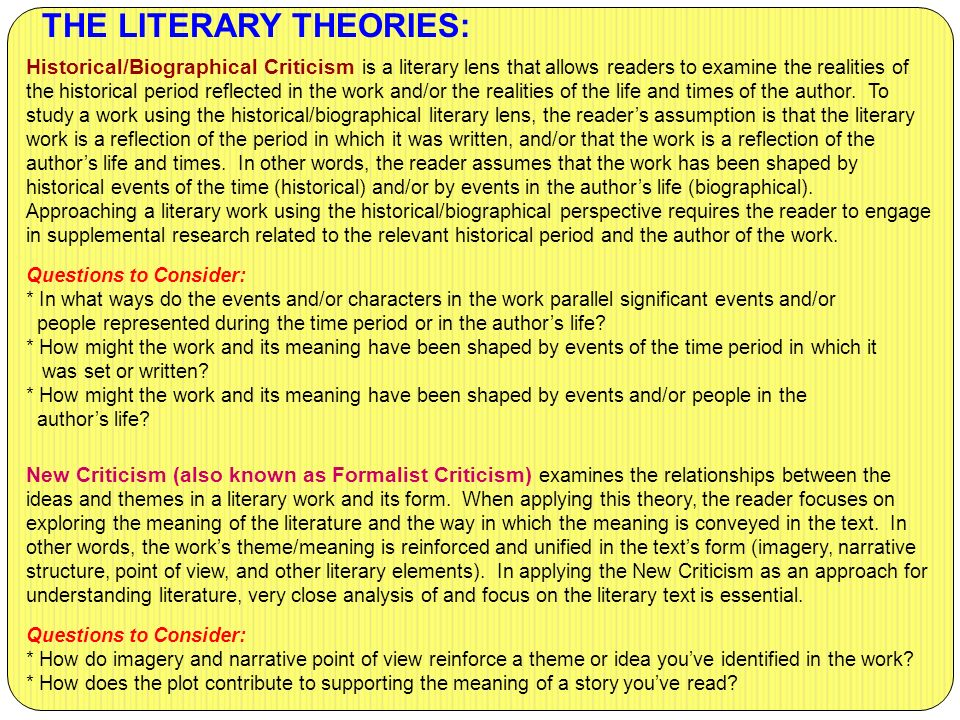 what is literary theory and do What has to undergo a sea change to make literary criticism and theory relevant for today is to take it out of the category called scientific research and bring it back out on the streets and thoroughfares of the internet which is exactly what i propose to do.