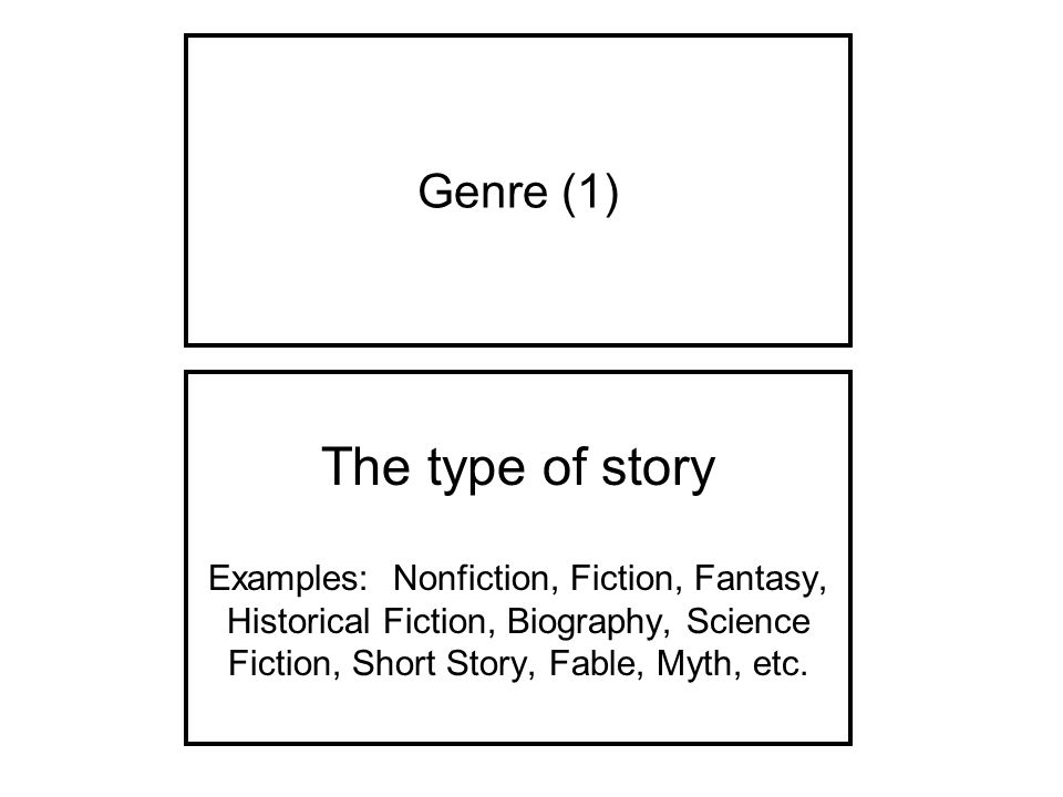 The Type Of Story Genre 1 Ppt Video Online Download