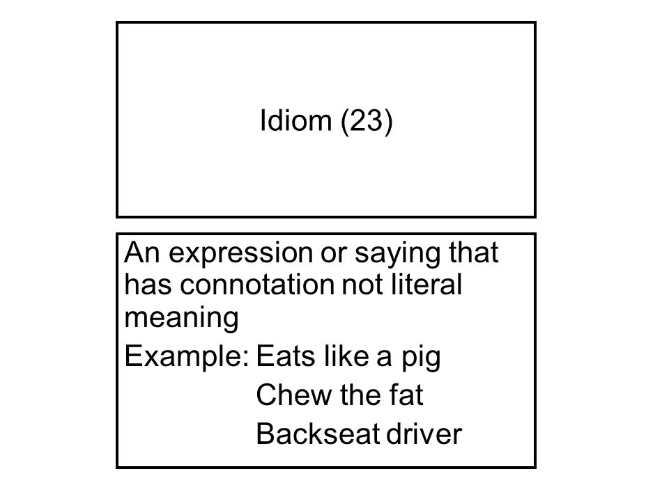 adage literal meaning Are you pulling my leg a lesson on idioms  the meaning of common idioms  an understanding of the difference between the literal and figurative meanings.