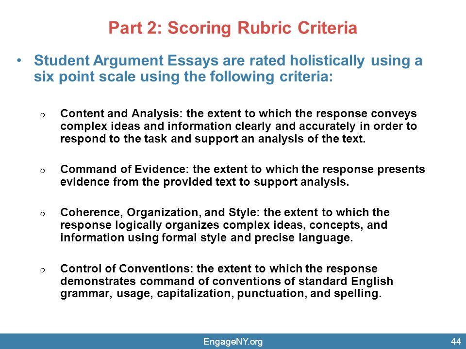 scoring rubrics on essay