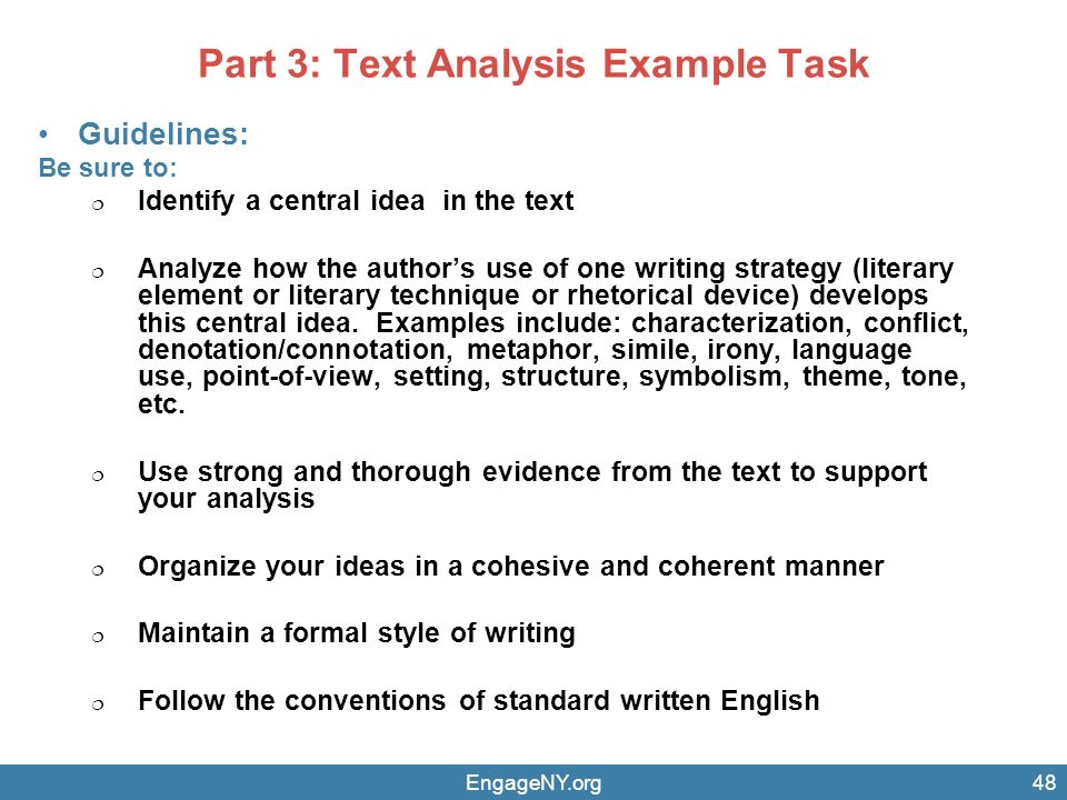 identify a central idea in the text analyze how the authors use of writing strategy 2 2 determine central ideas or themes of a text and analyze their development summarize the key supporting details and ideas 3 analyze how and why individuals, events, and ideas develop and interact over.