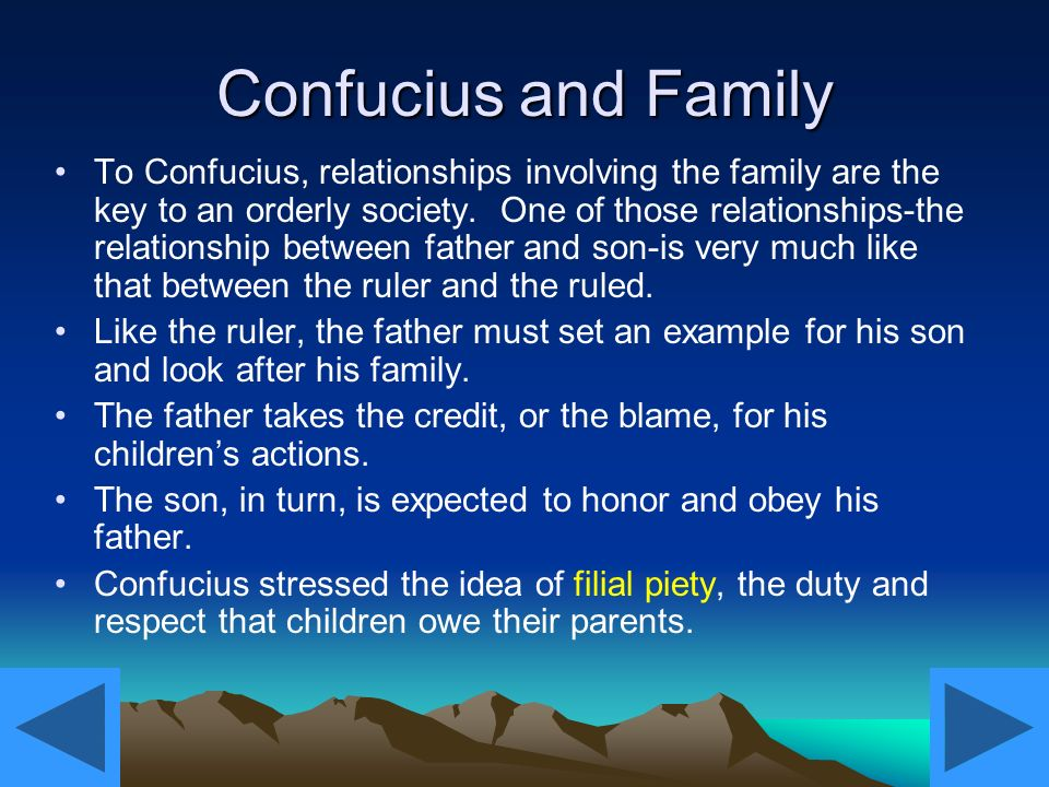 father and son relationship confucius
