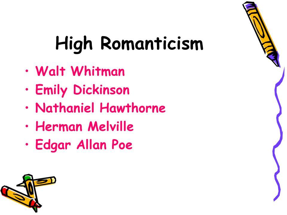 emily dickinson and nathaniel hawthorne english literature essay Nathaniel hawthorne edgar allan poe american literature 1820-1865 texts 1860-65 emily dickinson writes several hundred poems:.