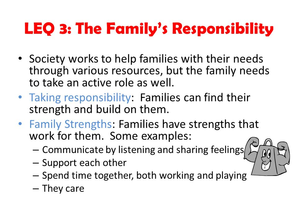 LEQ 3: The Family's Responsibility