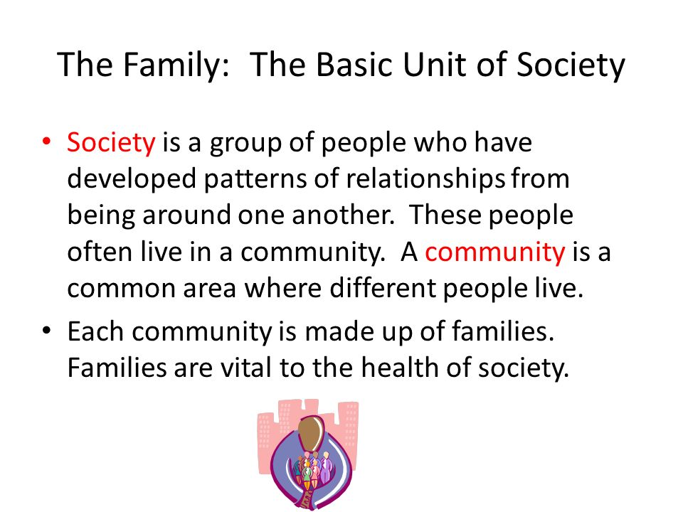 The Family: The Basic Unit of Society