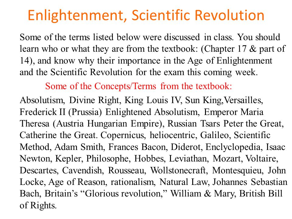 the importance of the scientific revolution The scientific revolution was when new ideas in physics, astronomy, biology, human anatomy, chemistry, and other sciences lead people to disprove old.
