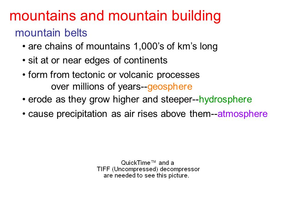 mountains, mountain building, & growth of continents - ppt video ...