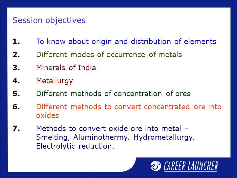 hydrometaludgy metal names