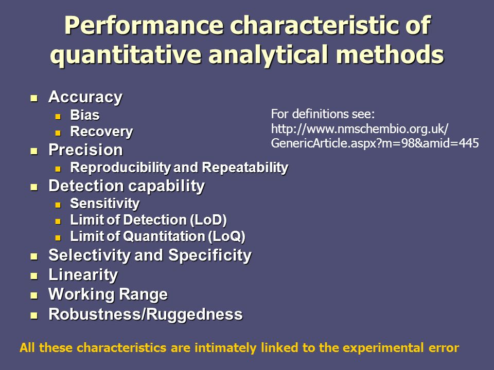 11 Performance Characteristic