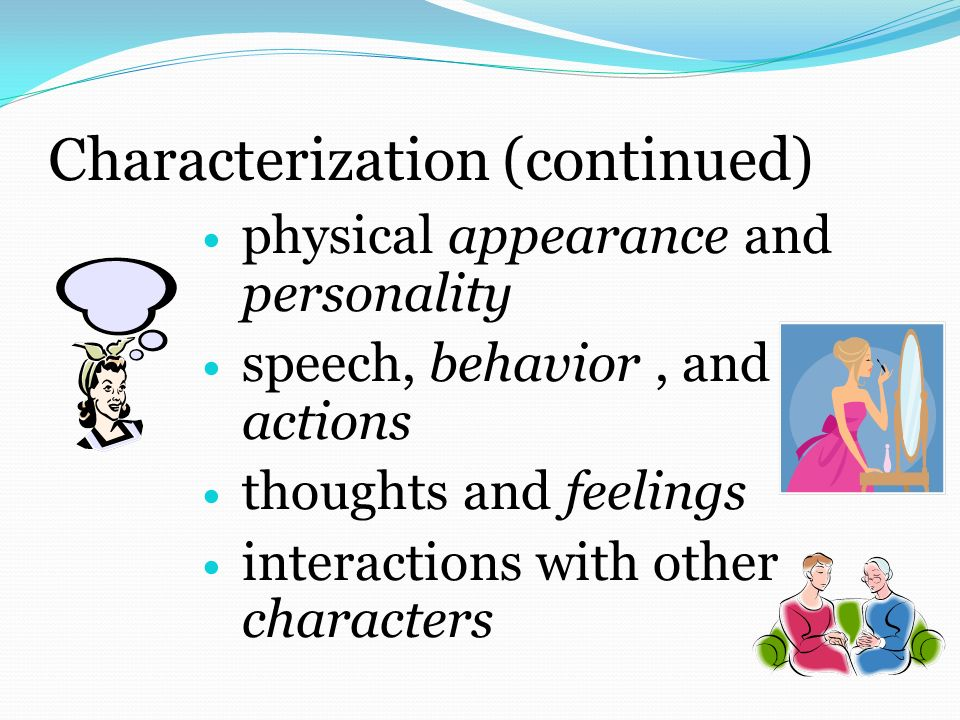 Characterization (continued)