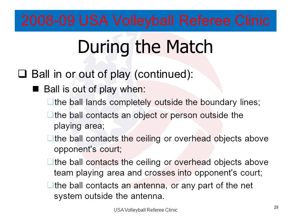 Usa Volleyball Referee Clinic Ppt Download