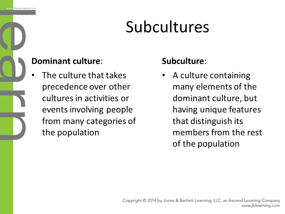 influence of dominant culture All of these cultures influence us—we see the world through our cultural   sometimes one or more cultures may take dominance over another.