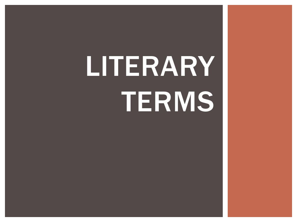 College essay literary terms