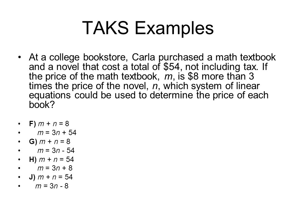 Setting Up System of Equation Word Problems - ppt video online download