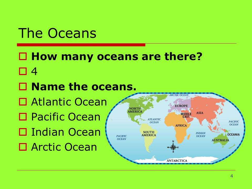 Continents Oceans Hemispheres Ppt Download - How many oceans in the world
