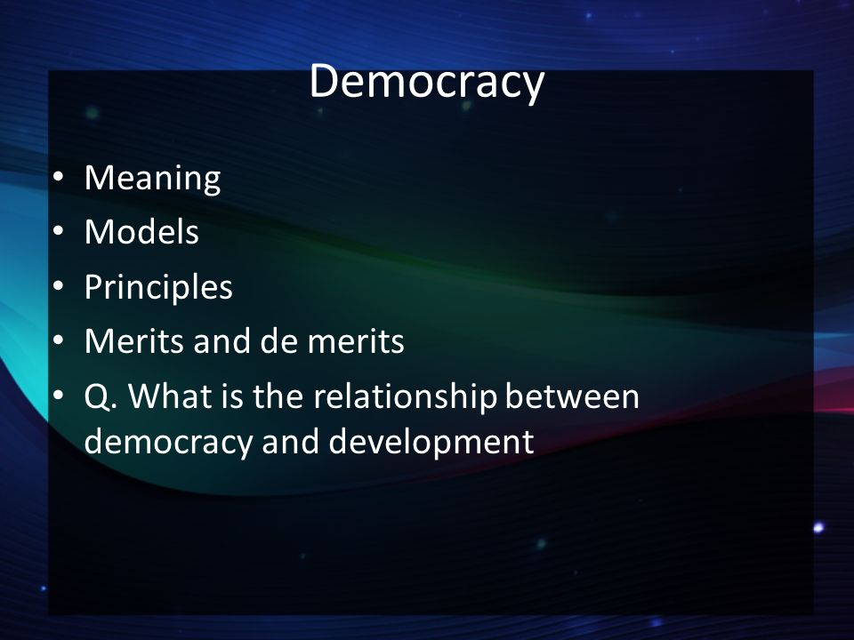 explain the relationship between democracy and community development