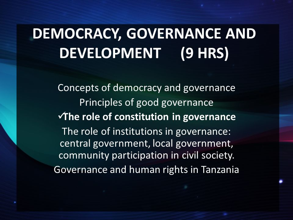 """civil society and good governance essay Center for democracy and governance """"  increased development of a politically active civil society provides a strategic  role of media in democracy 7 iv."""
