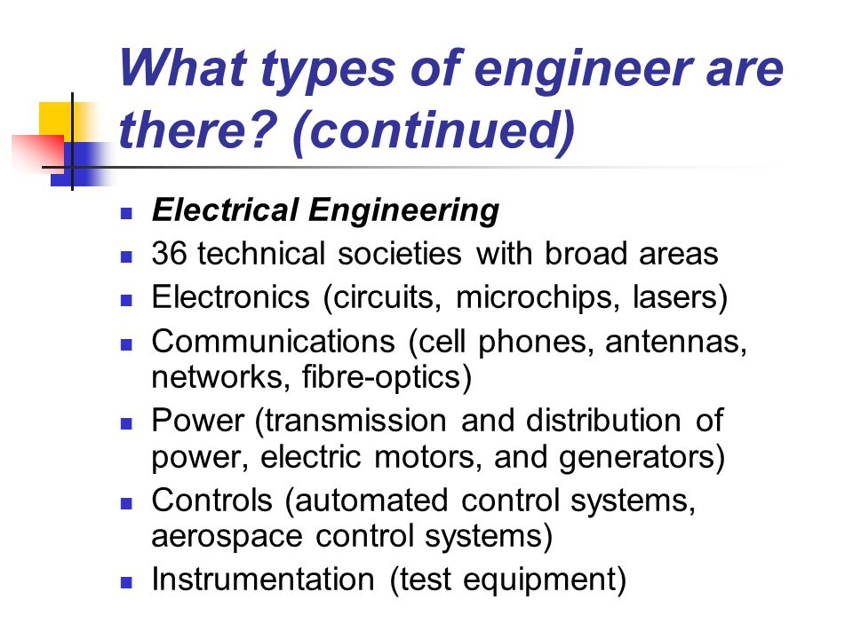 Types Of Electrical Test Equipment : Careers in engineering ppt video online download
