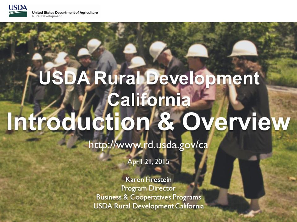 Usda rd usda rural development california ppt download for Rural development loan arkansas