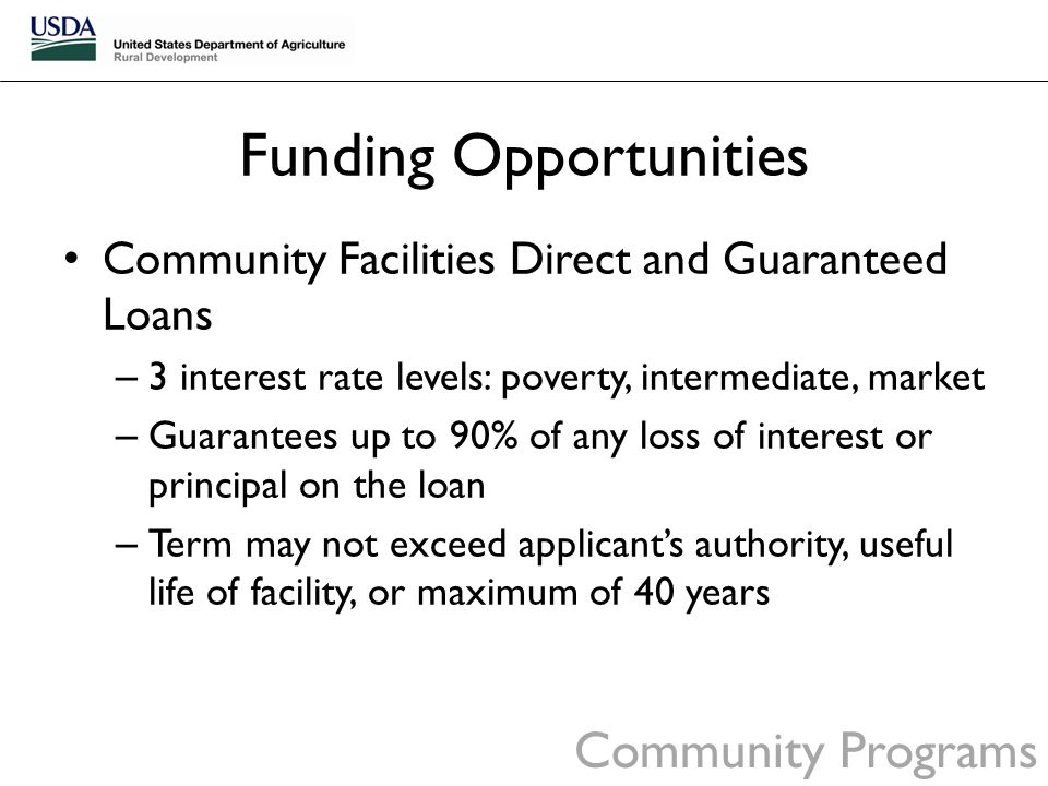 Usda rural development california ppt download Interest only construction loan