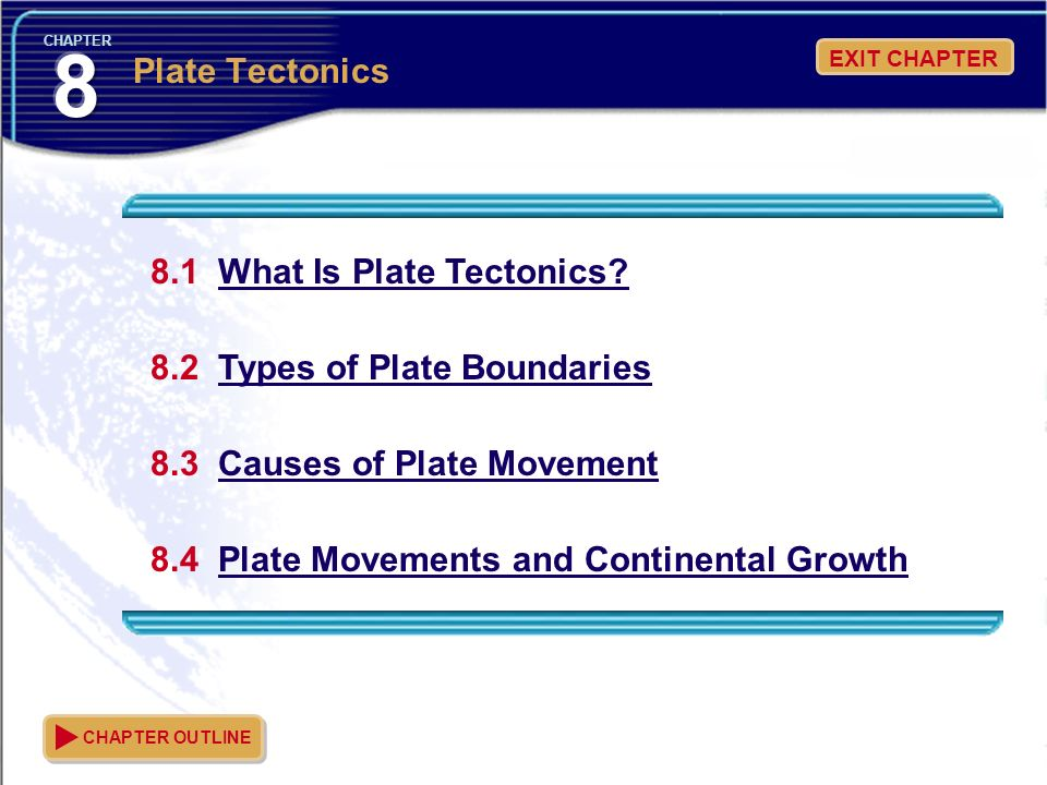 8 Plate Tectonics 8.1 What Is Plate Tectonics