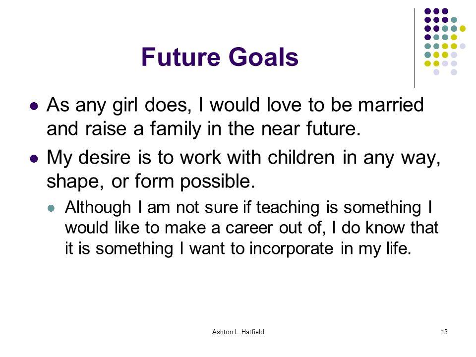 My future career goals - College paper Sample