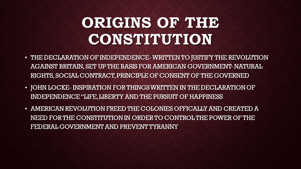 origins of power and rights of View the original text of history's most important documents,  amendment v rights in criminal cases  the congress shall have power to lay and collect taxes on .
