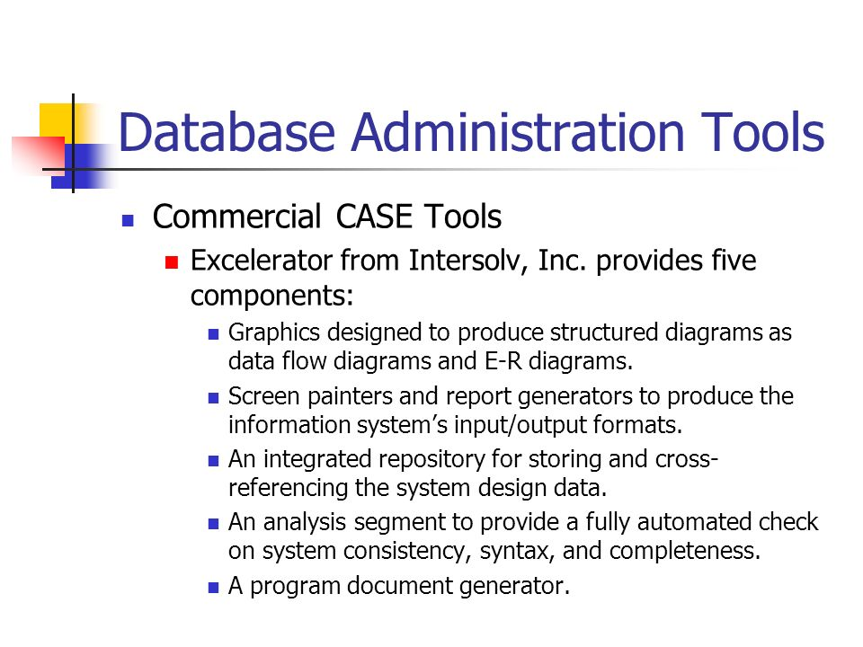 database administration tools Learn about the best database tools for microsoft sql server set of 24 administration tools for monitoring, troubleshooting, administering.