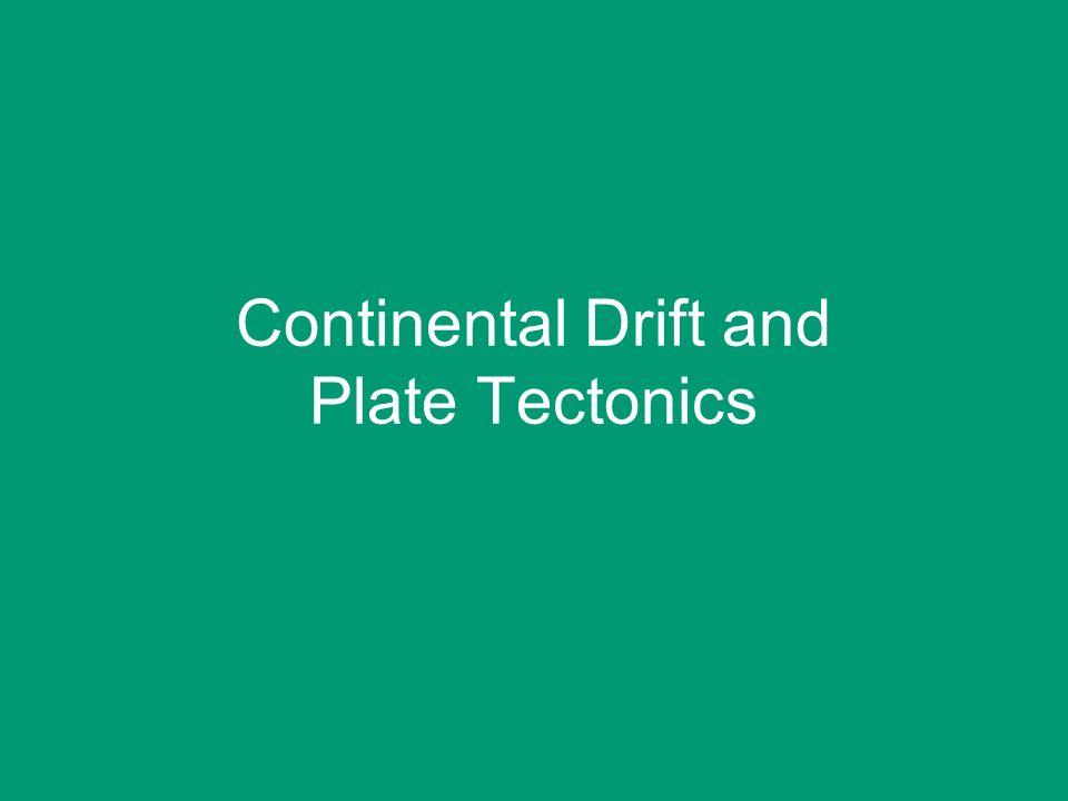 continental drift and plate tectonics pdf
