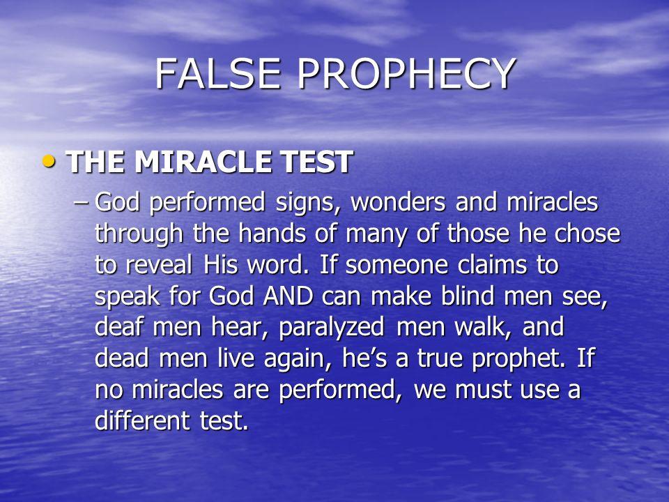 test of a true prophet pdf
