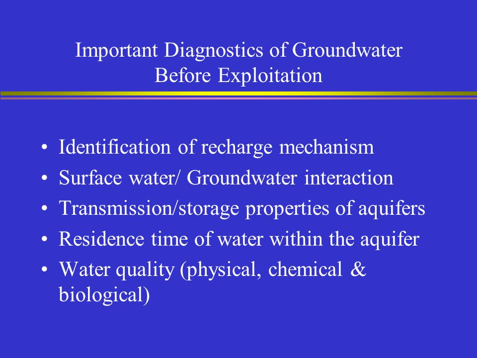 Physical And Chemical Properties Of Groundwater Ppt