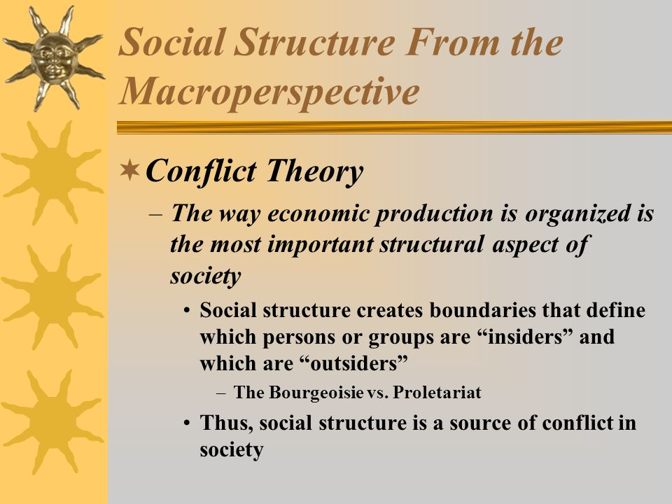 Social Structure From the Macroperspective