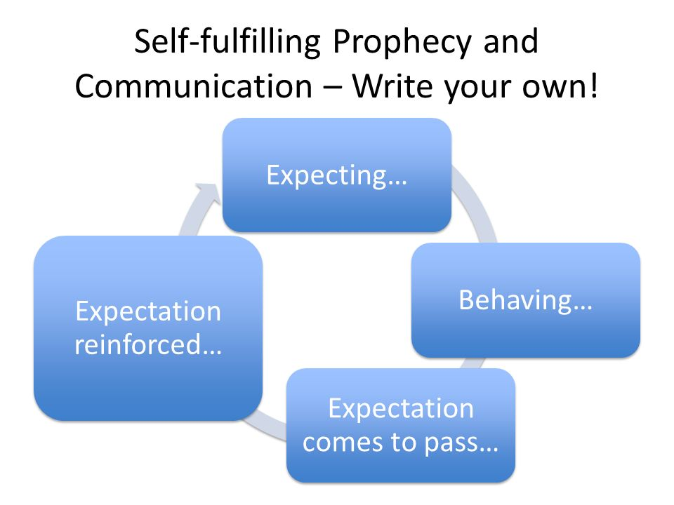 the negative and positive sides of self fulfilling prophesies Negative self talk tends to be a self-fulfilling prophecy  one side and come back to it when you're really feeling it 2 focus on this craving for a moment .