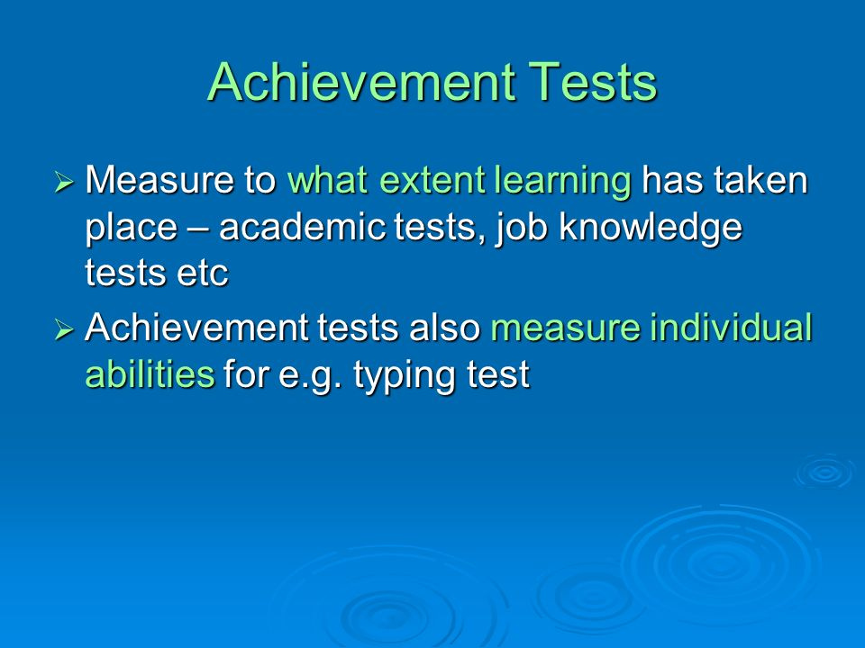 What Are Academic Achievement Tests? - Learn.org