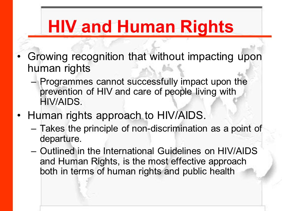 hiv and their rights The obligation to disclose hiv-positive status under canadian criminal law 2 the criminalization of hiv non-disclosure in  know their hiv status.