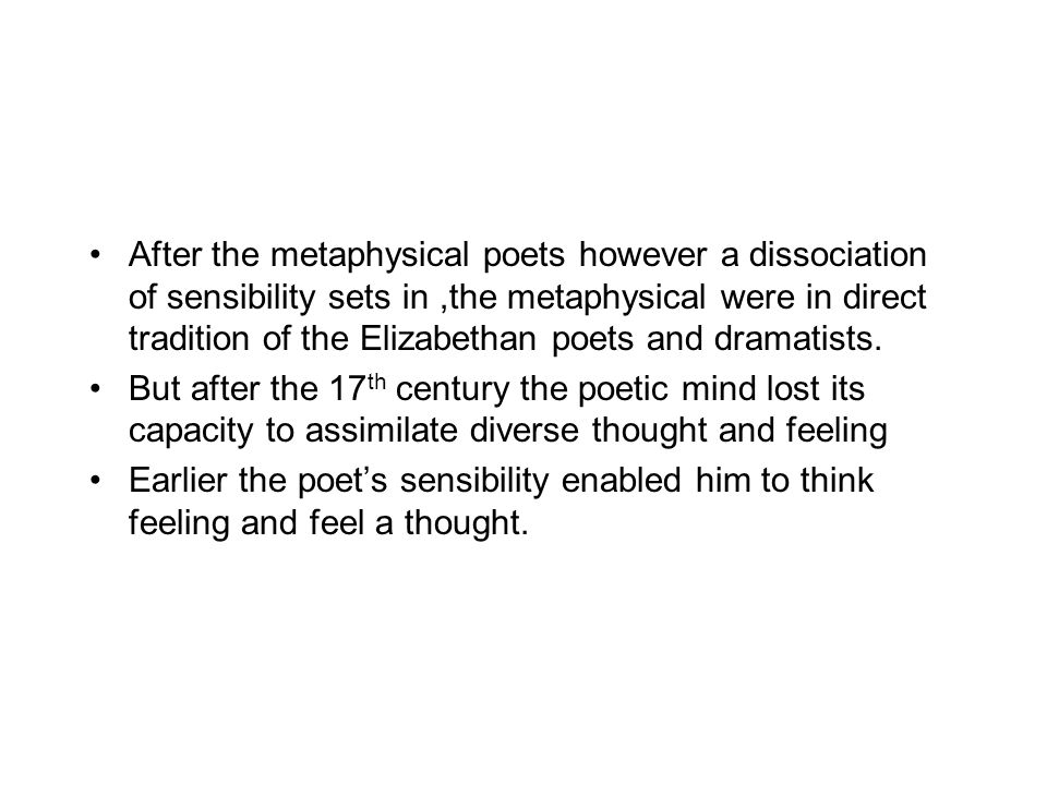 metaphysical poets by eliot pdf