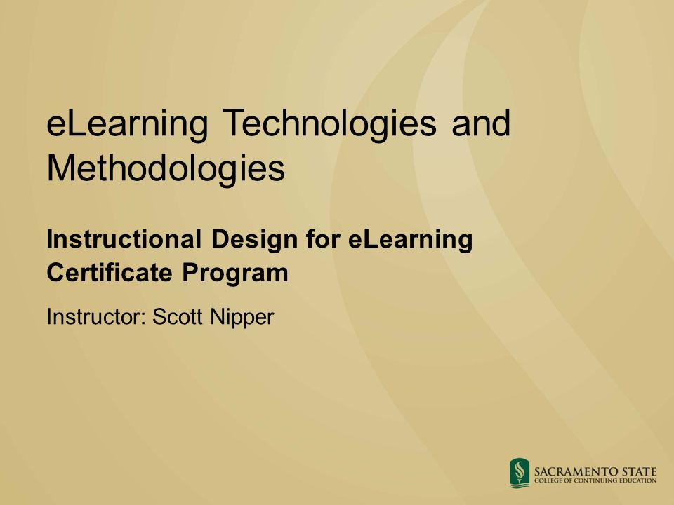 e learning instructional design certificate program